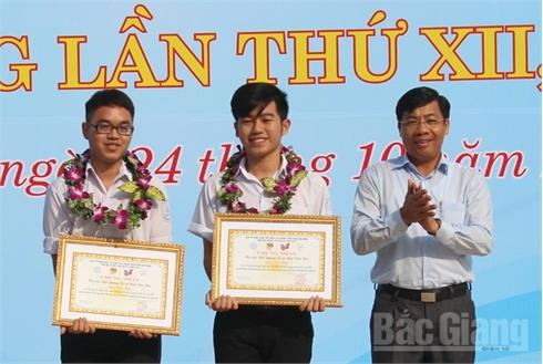Bắc Giang:  Trao giải Cuộc thi sáng tạo thanh thiếu niên, nhi đồng lần thứ thứ XII