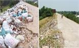 Xóa bãi rác tự phát trên đê hữu Thương