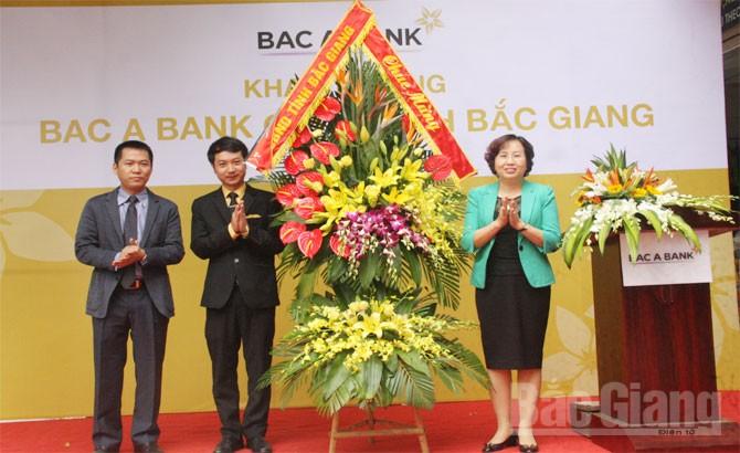 Khai trương, Ngân hàng, thương mại, cổ phần, Bắc Á, chi nhánh Bắc Giang