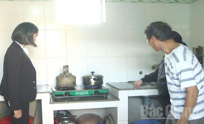 Sử dụng hầm khí biogas, cải thiện môi trường, Yên Dũng