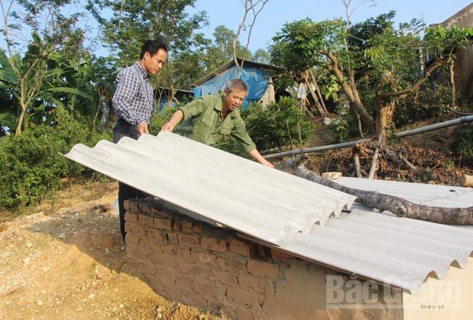 Hầm biogas, dự án LCASP, mô hình VAC, xã Đồng Tâm, huyện Yên Thế,