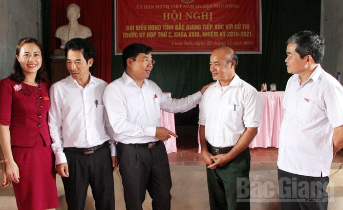 Đại biểu HĐND tỉnh, tiếp xúc cử tri, TP Bắc Giang, huyện Sơn Động