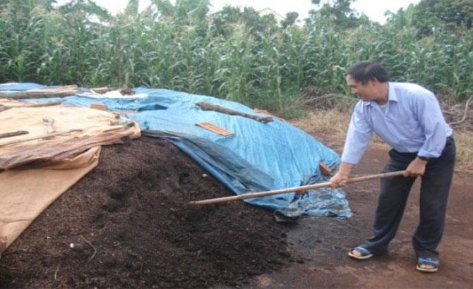 Quy  trình, ủ phân hữu cơ, từ phân chuồng