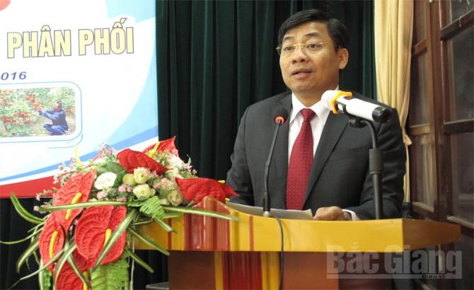 Hội thảo, kết nối, trái cây, kênh phân phối, Lục Ngạn, Lê hội, Phó Chủ tịch, UBND tỉnh, Dương Văn Thái, Ban chỉ đạo