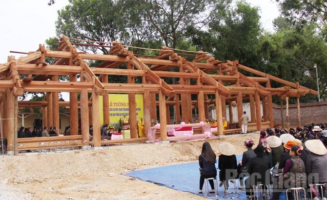 Lễ đặt nóc nhà lưu giữ và trưng bày mộc bản chùa Vĩnh Nghiêm