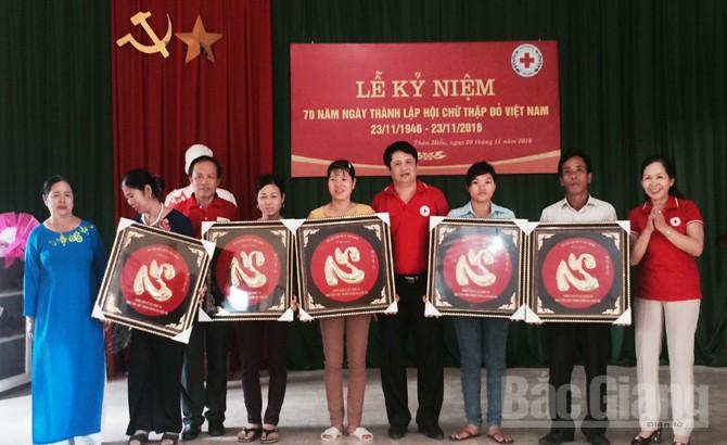 Điểm sáng,  phong trào,  Chữ thập đỏ, Tân Mỹ, TP Bắc Giang