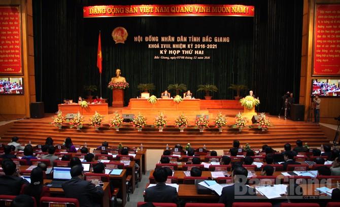 Khai mạc, kỳ họp thứ hai, HĐND tỉnh, khóa XVIII