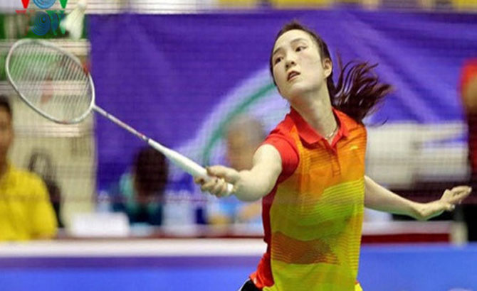 Vu Thi Trang, double victories, at Bangladesh Badminton Open