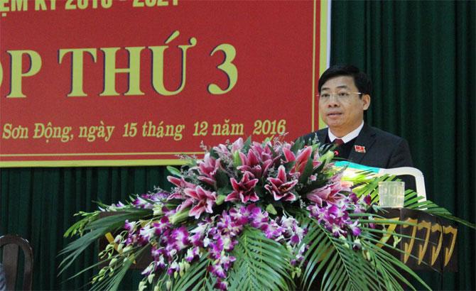 Kỳ họp thứ 3, HĐND huyện Sơn Động, nhiệm kỳ 2016-2021