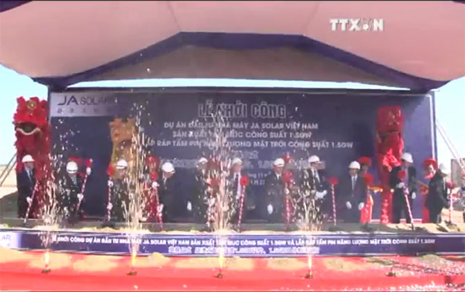 Solar energy pin factory built in Bac Giang