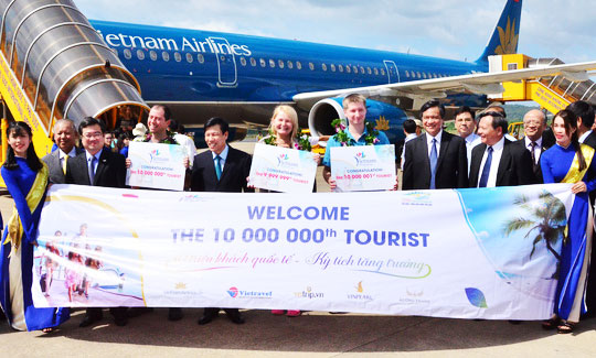 Đón vị khách, quốc tế, thứ 10 triệu, tại Phú Quốc