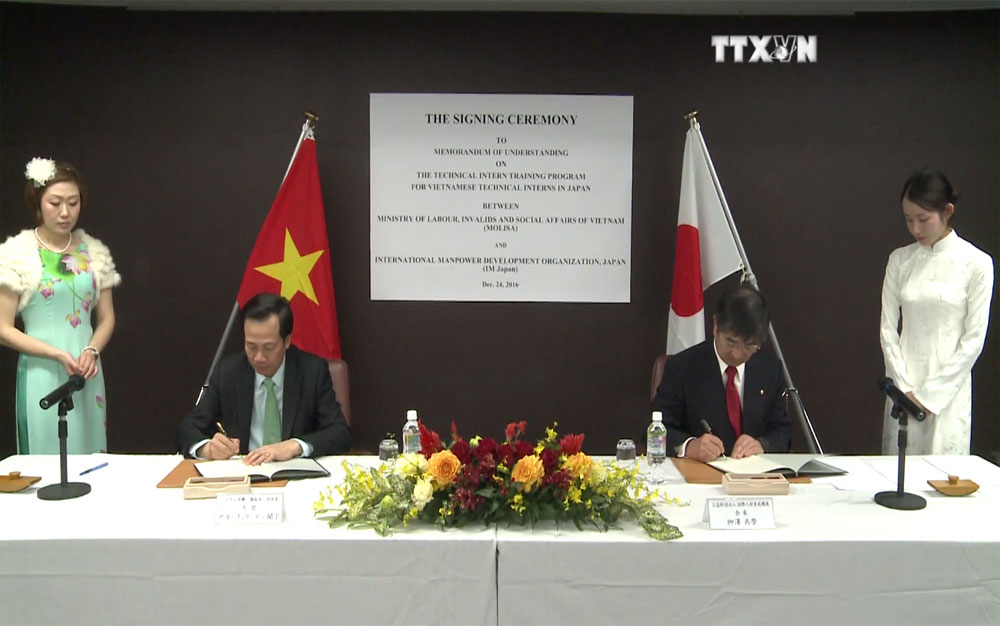 Vietnam, Japan sign MoU on labour cooperation