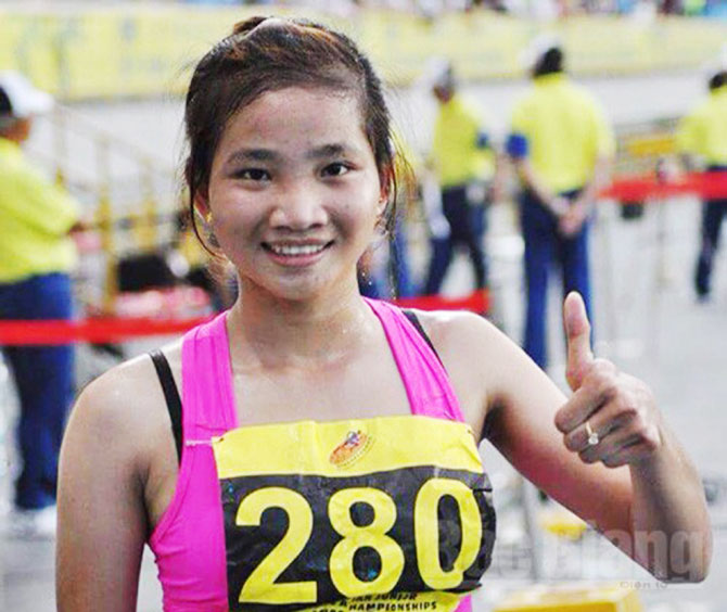 Runner, Nguyen Thi Oanh, shining, on the track