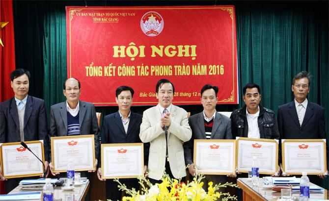 Ủy ban MTTQ tỉnh Bắc Giang, đổi mới, nội dung, hiệu quả, phong trào