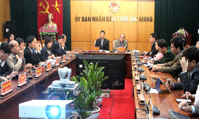 Cabinet, videoconference, implementing NA Resolution, Bac Giang