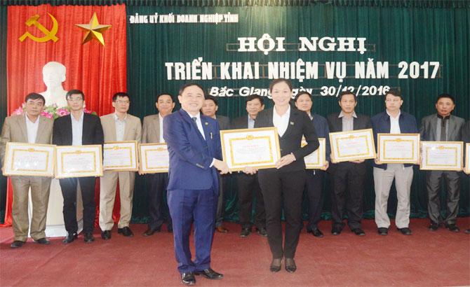 Đảng ủy, Khối Doanh nghiệp, tỉnh Bắc Giang, triển khai, nhiệm vụ, năm 2017