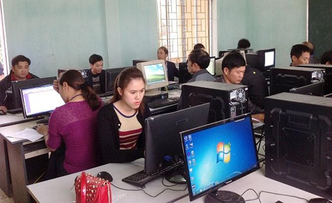 Hiệp Hòa kiểm tra trình độ tin học công chức cấp xã