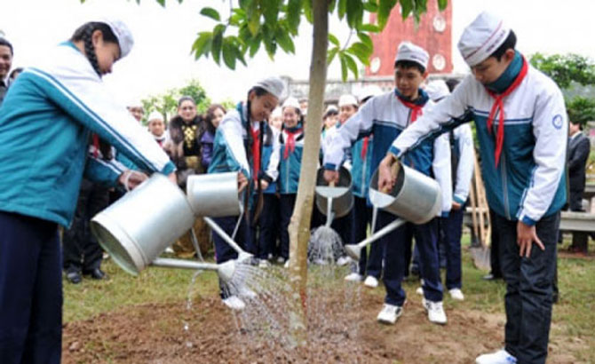Tổ chức Tết, trồng cây,  Xuân Đinh Dậu,  từ ngày 1-2 đến 1-3