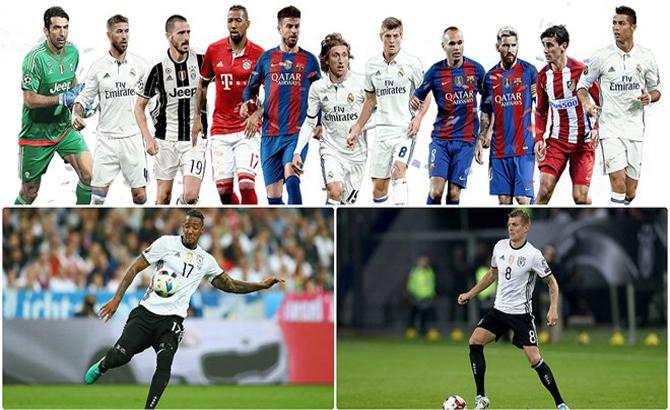 UEFA, chính thức, công bố, đội hình, xuất sắc nhất, năm 2016