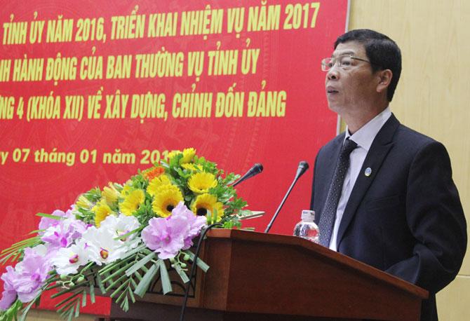 Tỉnh ủy,  Tổng kết, công tác, xây dựng Đảng, năm 2016