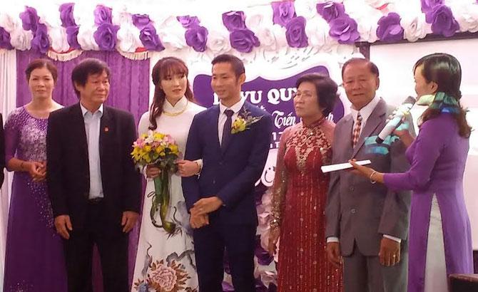 Tiến Minh, Vũ Thị Trang, tổ chức, lễ cưới,  Bắc Giang