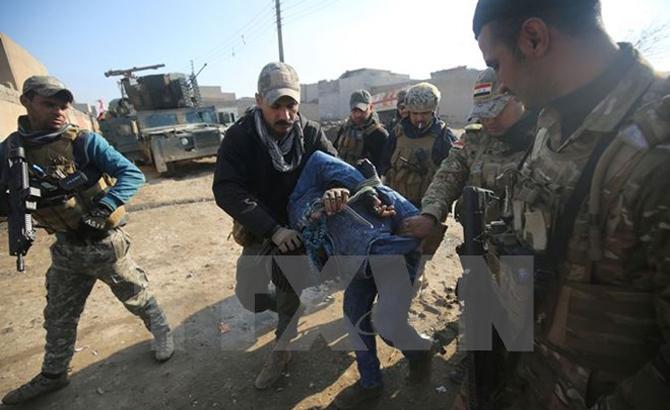 Áp sát, bờ Đông, sông Tigris, quân đội, Iraq, trên đà, giành lại, Mosul