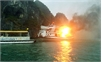Cháy tàu du lịch Ánh Dương trên Vịnh Hạ Long