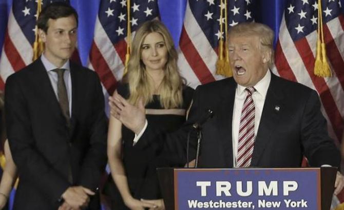 Ông Donald Trump, bổ nhiệm, con rể,  cố vấn cấp cao, Nhà Trắng