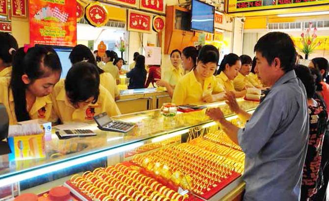 Đảo chiều, giá vàng, SJC, Bảo Tín Minh Châu, cùng tăng