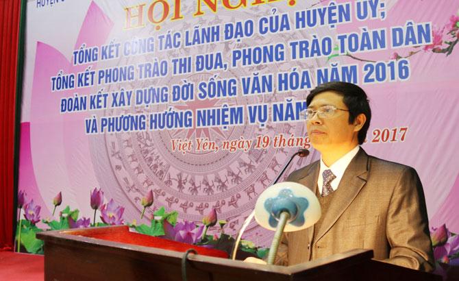 Huy động tối đa các nguồn lực đẩy nhanh tốc độ phát triển kinh tế huyện Việt Yên