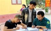 Những thanh niên xung phong nhập ngũ