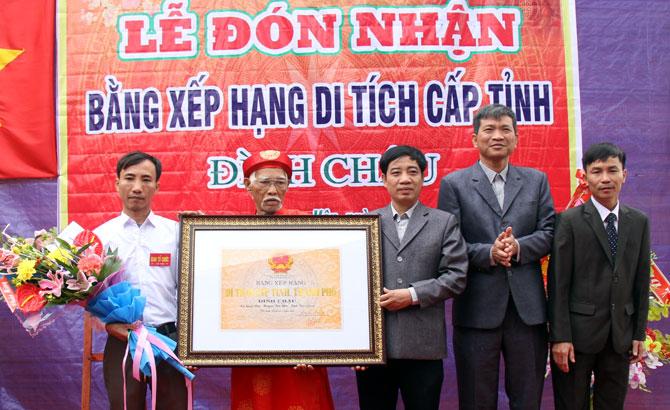 Tân Yên: Đón Bằng công nhận di tích lịch sử, văn hóa đình làng Chậu