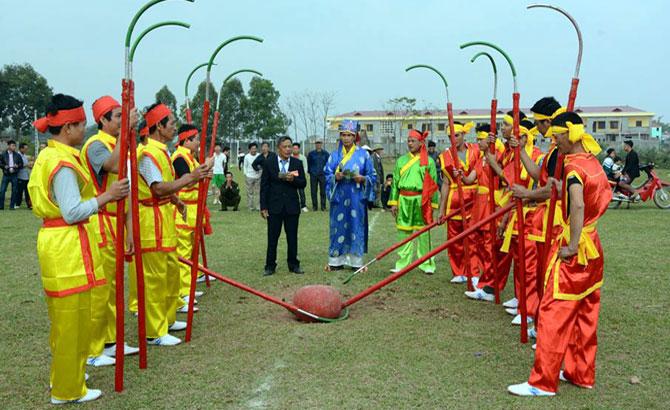 Bảo tồn, tục cướp cầu, lễ hội,  làng Nội, Tân Yên