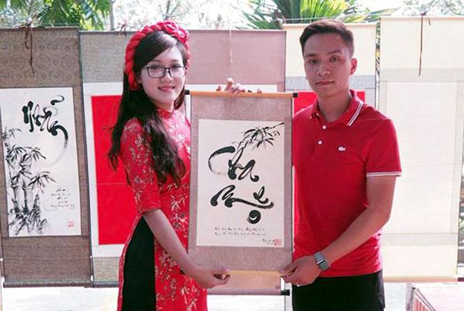 Cô đồ trẻ, Nguyễn Thị Cẩm Nhung, thư pháp, tài hoa, khát vọng, trở thành, doanh nhân