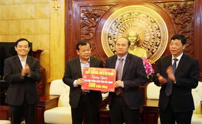 Đoàn cán bộ, tỉnh Tây Ninh, làm việc, Bắc Giang