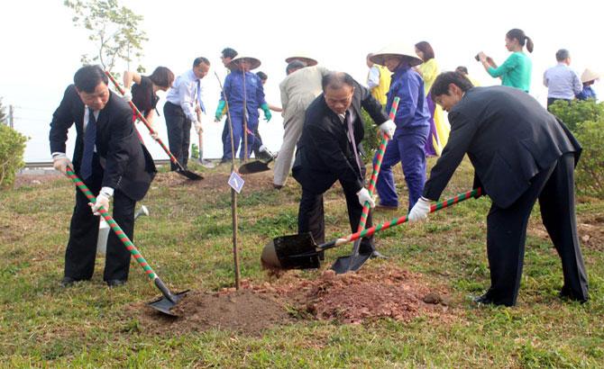Bac Giang plants 200 cherry trees at Hoang Hoa Tham Park