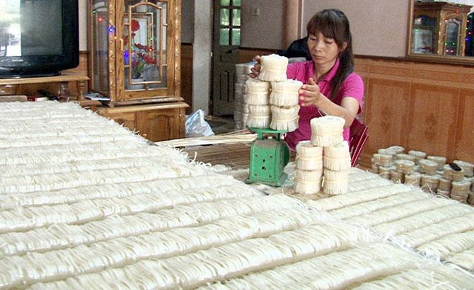 HTX Sản xuất, tiêu thụ mỳ Chũ, tạo việc làm, 700 lao động