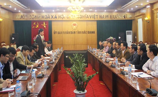 Đoàn công tác, UBND tỉnh, Sơn La, thăm, làm việc, Bắc Giang