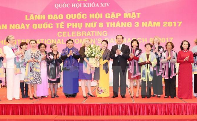Gặp mặt, nữ Đại sứ, Trưởng đại diện, tổ chức quốc tế, Việt Nam