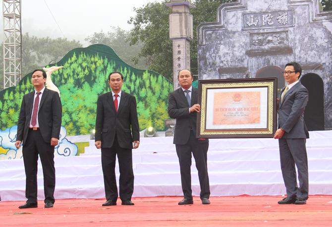 Bắc Giang, đón nhận, Bằng xếp hạng, Di tích quốc gia, đặc biệt, chùa Bổ Đà