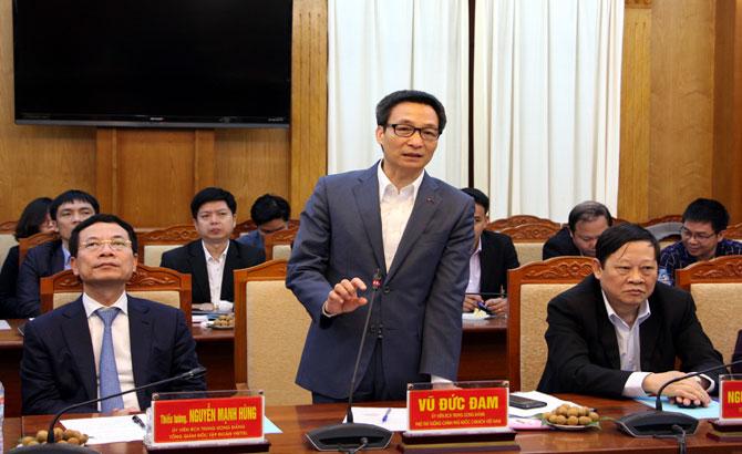 Phó Thủ tướng, Vũ Đức Đam, làm việc, Bắc Giang, quan tâm, hỗ trợ, lập hồ sơ