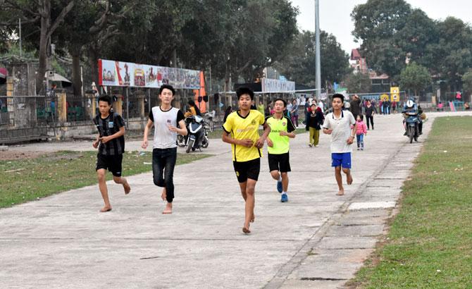 Các đội tuyển,  dồn sức, tập luyện, giải việt dã, Báo Bắc Giang