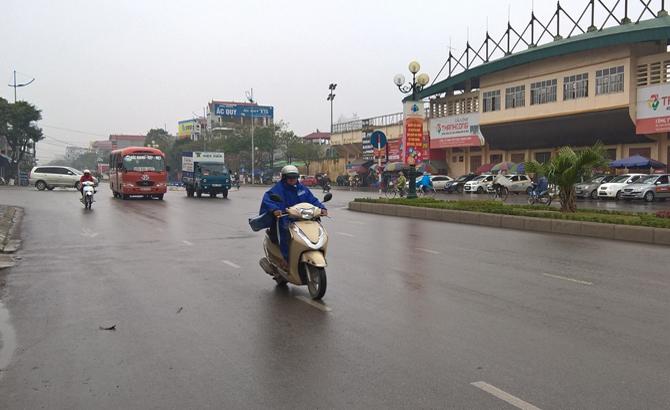 Bắc Giang, mưa nhỏ rải rác, trời chuyển rét, ẩm ướt