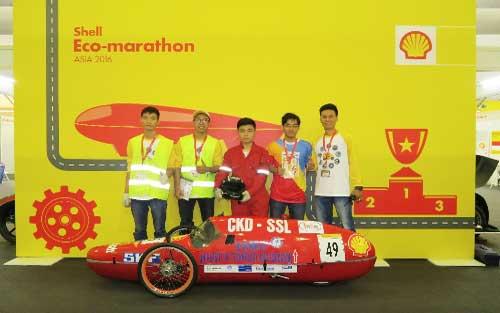 Sinh viên Việt Nam, dự thi, chế tạo xe, tiết kiệm, nhiên liệu