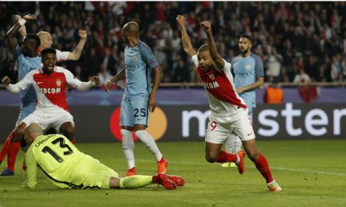Man City, thua đậm, Monaco, bị loại, Champions League