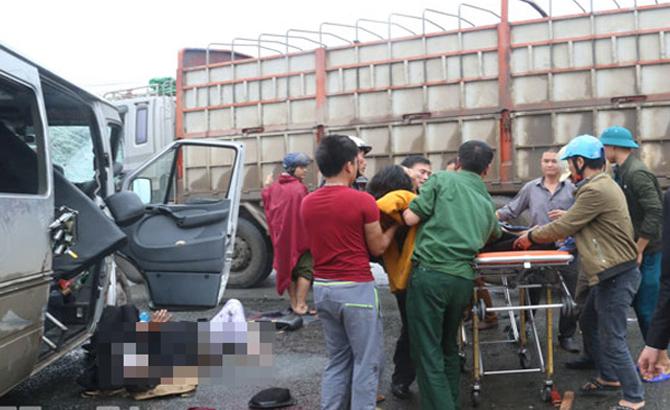 Xe tải,  xe khách, người chết, bị thương, Hà Nam
