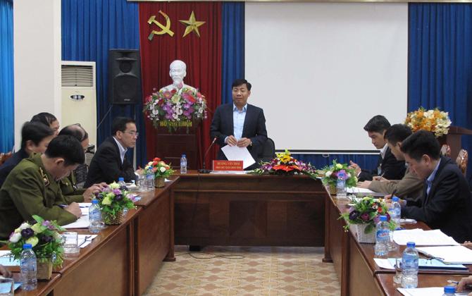 Làm việc, Sở Công thương, Phó Chủ tịch UBND tỉnh, Dương Văn Thái, chỉ đạo,