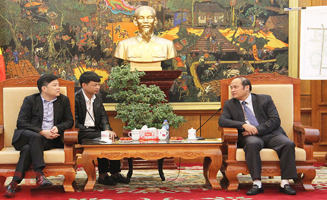 Bac Giang leader receives China's Pengxin Group manager