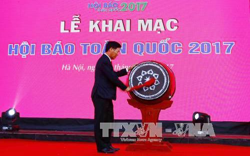 Khai mạc, Hội Báo, toàn quốc, năm 2017, phóng viên, tuyên giáo, TP Hà Nội
