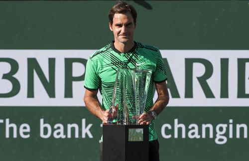 Đánh bại, Wawrinka, Federer, lần thứ năm, vô địch, Indian Wells